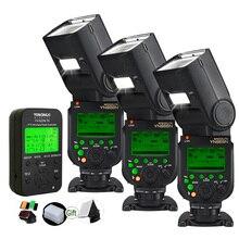 Yongnuo YN968N TLL HSS Speedlite со светодиодный светильник+ YN622N-TX триггер передатчик 1/8000s 2,4G беспроводной GN60 DSLR вспышка для Nikon