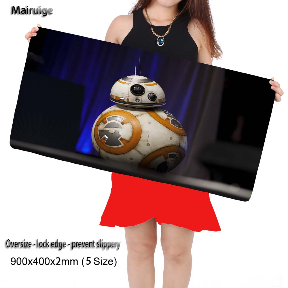 Mairuige Shop Star Wars BB Large Gaming Overlock Mouse Pad Locking Edge Mouse Mat Speed Version for Dota CS GO Mousepad 5 Sizes