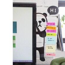 Компьютерный экран стикер Милая панда сообщение памятка 3d стикер стены s многофункциональная Закладка сообщение заметки доска домашний декор