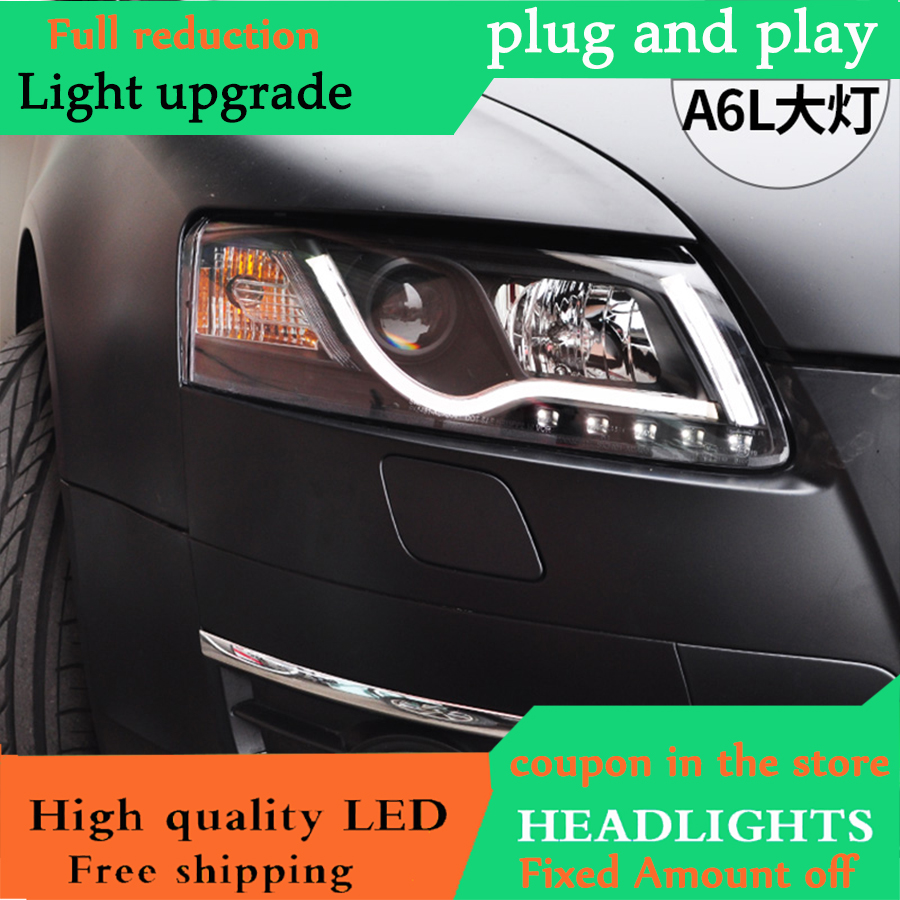 dy l car styling for audi a6 c5 headlights 2005 2012 a6 led headlight drl lens double beam hid kit xenon bi xenon lens [ 900 x 900 Pixel ]