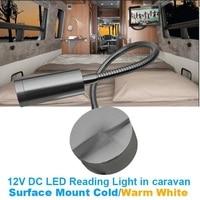 Luz Interior Flexible para cámper, lámpara de pared para caravana, RV, Bedide, color blanco frío y cálido, 12V DC Luz de Lectura LED