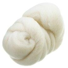 50 г молочно-белое корриедальное окрашенное Шерстяное волокно Топы ровинг Игла DIY валяние Шерстяное волокно для кукол Рукоделие швейные проекты Mayitr