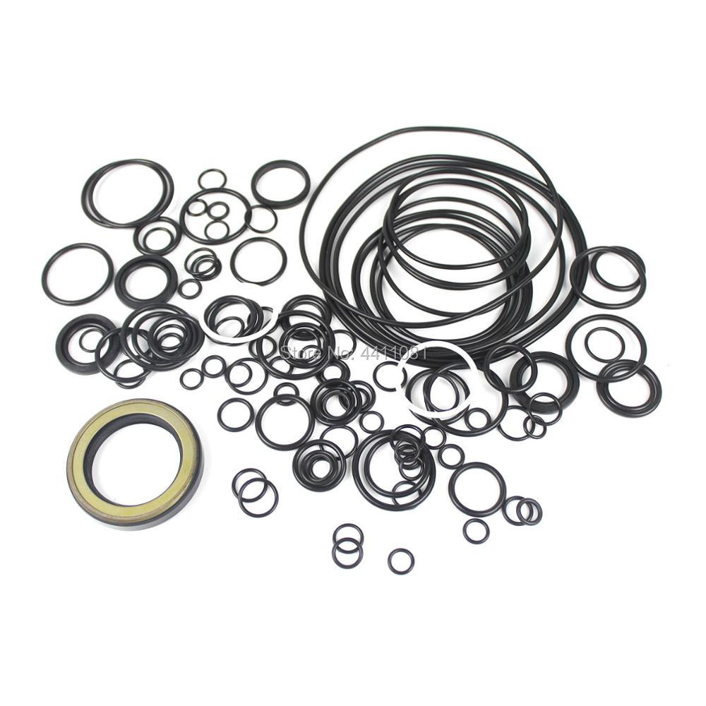 For Komatsu PC130-7 Main Pump Seal Repair Service Kit Excavator Oil Seals, 3 month warranty
