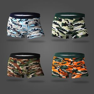 Image 3 - Bamboo Fiber Underwear Men Brand 2019 Camouflage 4Pcs/lot Male Panties Fashion Sexy Mens Boxer Shorts Soft Breathable Underpants