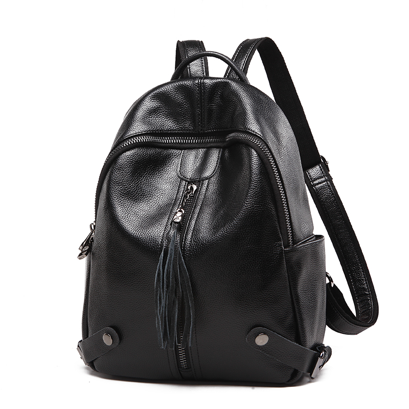 SUONAYI New Travel Backpack Women Female Rucksack Leisure Student School bag Soft Genuine leather Leather Women Bag цена 2017