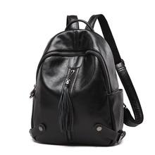 цены SUONAYI New Travel Backpack Women Female Rucksack Leisure Student School bag Soft Genuine leather Leather Women Bag