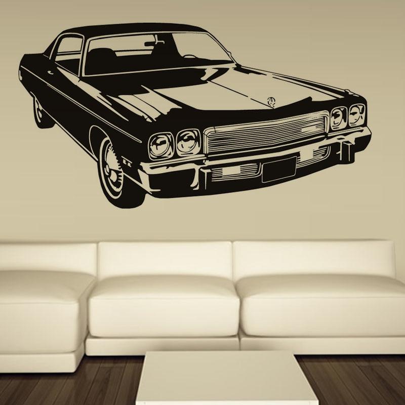 Retro Car Sticker Old Ford Mustang Decal Wall Art Vinyl Decor School Dorm Living Room Bedroom