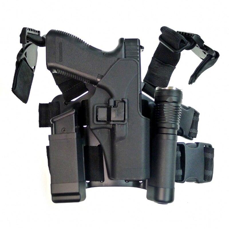 CQC tactique Airsoft Glock pistolet étui goutte jambe étui accessoires de chasse pistolet pistolet porte-pistolet Glock 17 19 22 23 31 32