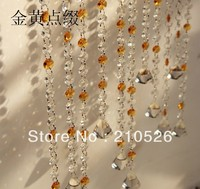 90*100cm Luxury colorfull crystal strands bead curtain for home wedding wedding tree decoration,one set (Customize)