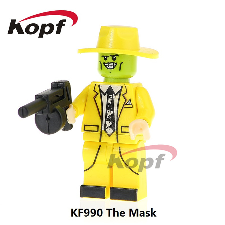 50Pcs KF990 Super Heroes Building Blocks The Mask Magical Comedy Movie TV Cahracter Bricks Action Model Gift Toys For Children