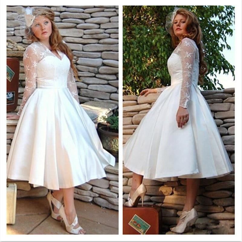 Beste Tee Länge Plus Größe Kleider Hochzeit Fotos - Brautkleider ...