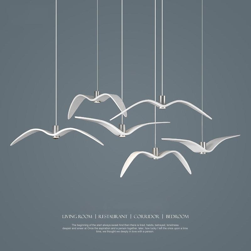 ФОТО Creative Pendant Lights Personality Birds Pendant Lamp Barroom Pendant Loft/Bar/Dining Room suspension luminaire