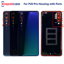 Free Shipping New Original Glass Rear Housing For Huawei P20 Pro Battery Cover Back Case Door P20 Pro Replace Part with LOGO free shipping 95%new camera back cover for sony nex 5r nex5r rear cover with door replacement repair part black