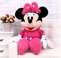 Adorável rato de brinquedo mickey mouse boneca de brinquedo da menina rosa minny coisas presente de aniversário boneca cerca de 80 cm