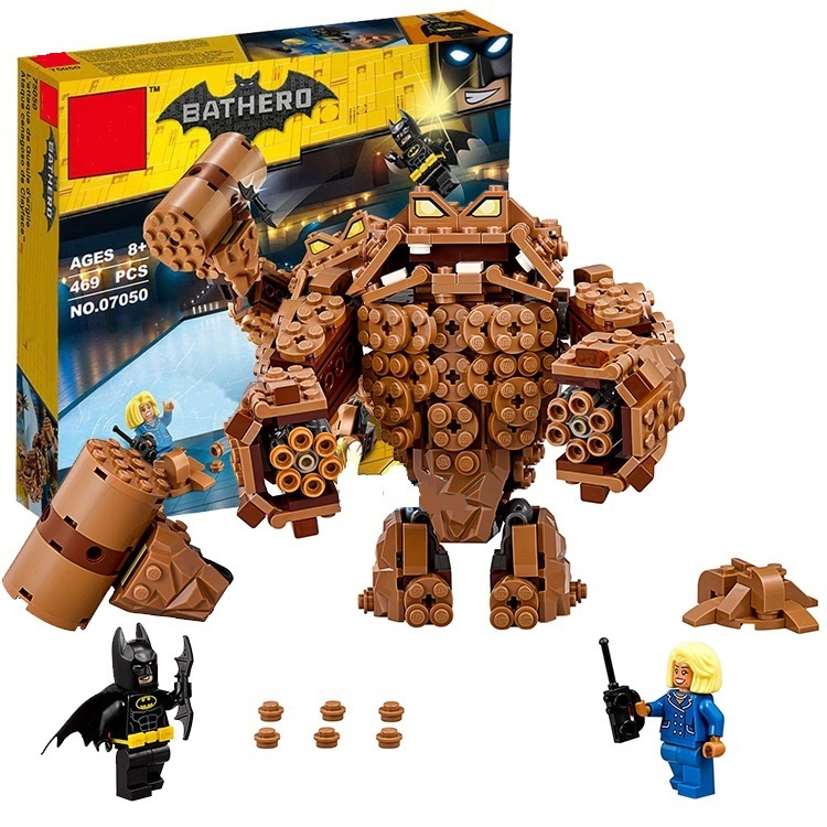 ФОТО 07050 New 469Pcs Batman Movie Series The Rock Monster Clayface Splat Attack 70904 Building Blocks Bricks Education Toys