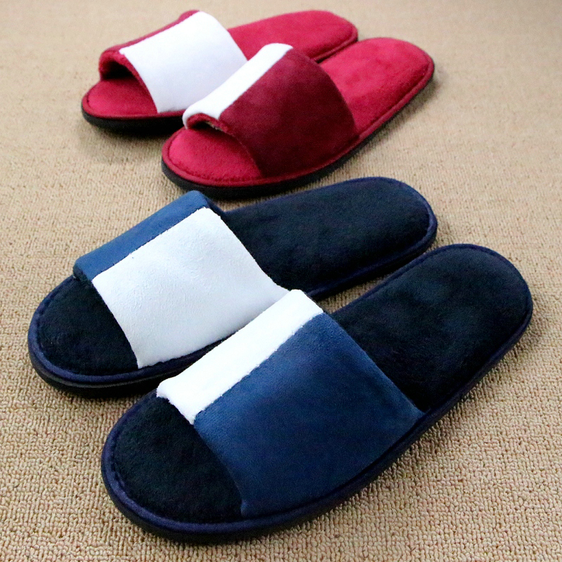 New Hotel Slippers 2016 Women Men Indoor/home Shoes Pantuflas Coral Fleece Plush Slipper Thicken Soft Floor House Shoe Pantufas vanled 2017 new fashion spring summer autumn 5 colors home plush slippers women indoor floor flat shoes free shipping