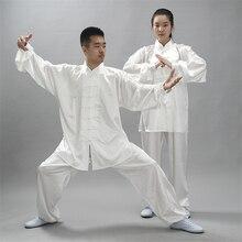 Китайский традиционный комплект одежды для мужчин и женщин Тай Чи Кунг-фу Униформа 12 цветов ушу Топ Брюки тренировочные костюмы для сцены
