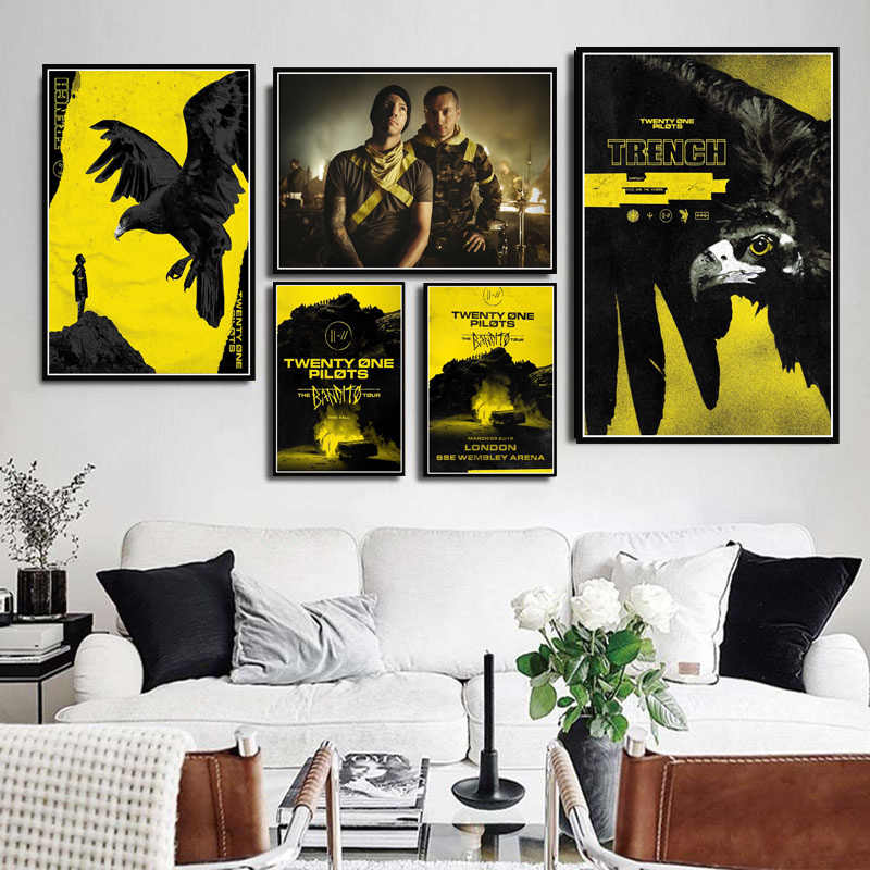 Twenty One Pilots Rock Music Band Trench Tour Poster Prints Wall Art Modern Painting Wall Pictures For Living Room Home Decor