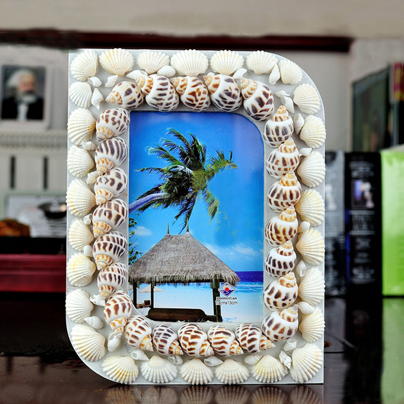 Creative Seashell Picture Photo Frames with Glass Front Panel for ...