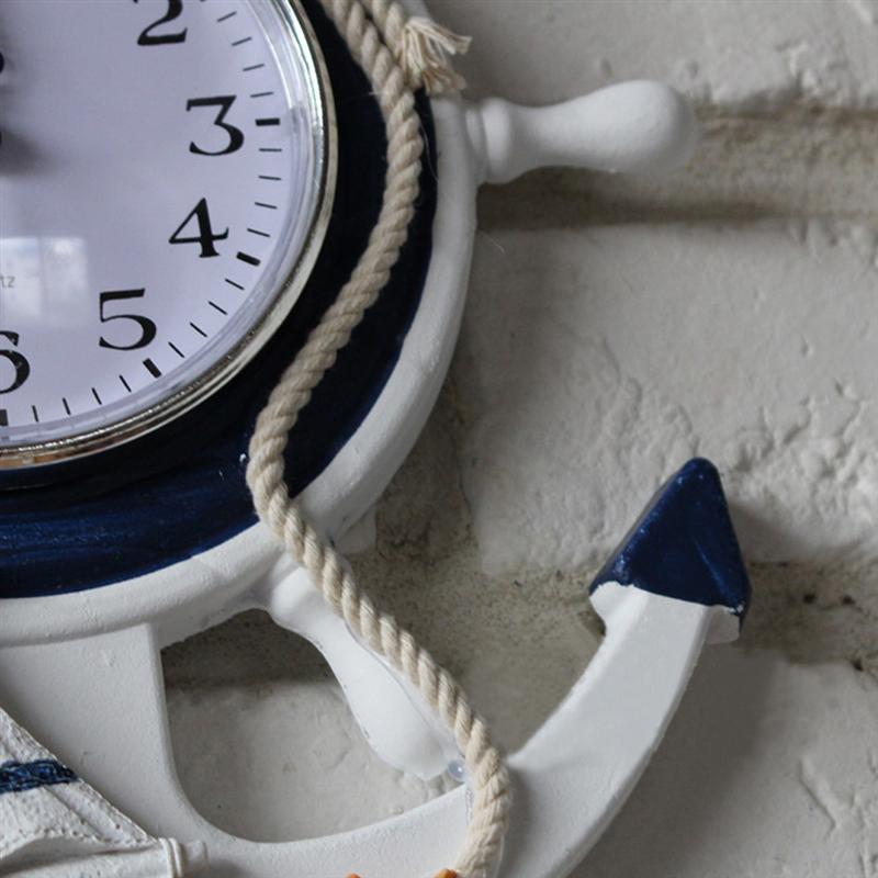 a935b1b1712 Compre Âncora Relógio Praia Mar Tema Náutico Navio Roda Leme Volante ...