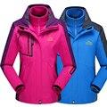 Nuevo de las mujeres de los hombres de la chaqueta de invierno abrigos para mujeres Abajo Parkas Rompevientos chaquetas Abrigos Chaqueta Impermeable térmica de Tres piezas
