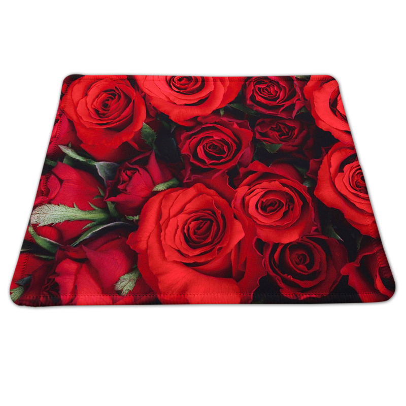 New Arrival Large Gaming Mousepad The Rose Flower Painting Black Rubber Non-slip Mousemat For PC Computer Notebook Mice Play Mat