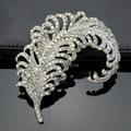 Star Jewelry Free Shipping Hot Sale Popular High Quality Crystal Brooch Rhinestone Leaf Shape Glass Brooch Pins For Women 2017