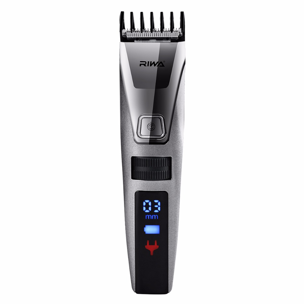 Riwa Rechargeable Electric IPX5 Waterproof LCD Display Hair Trimmer Clipper Haircut Kit Head Hair Clipper Replacement Blade