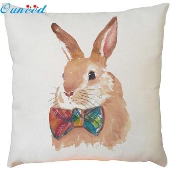 Funda de almohada Ouneed, funda de almohada suave con estampado de conejo, cojín de respaldo para asiento de plataforma en la cintura, decoración para el hogar 2020, dropshipping 2020