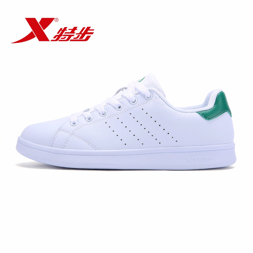 983218319266 XTEP Seller Recommend Hot Sale Couple Leather Women White Stan Sneakers Skateboard Shoes