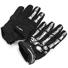 1 Pair Men Women 3D Skeleton Skull Bone Breathable Full Finger Bicycle Gloves