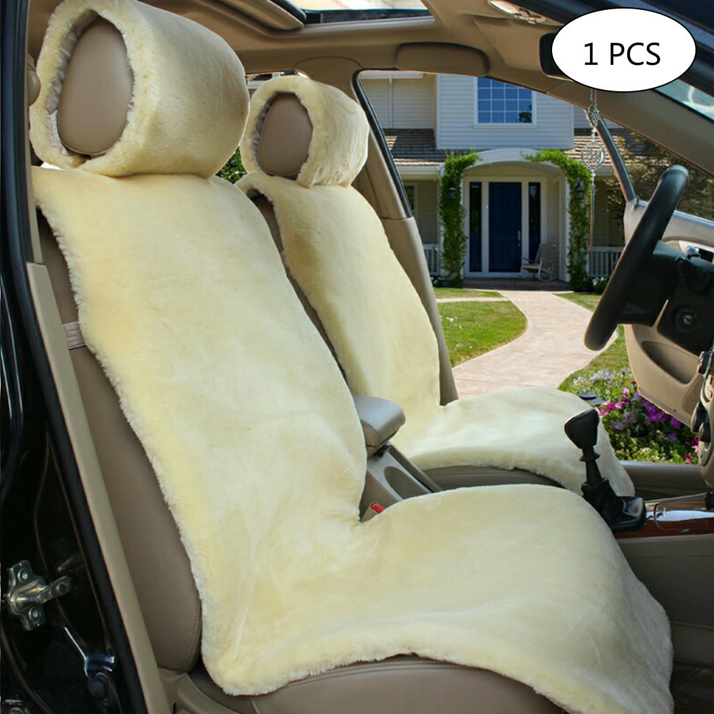 Winter Warm Car Seat Cover Auto Interior Simulated Wool Fur Seat Covers For Universal Car-styling kawosen 2 pcs australian sheepskin fur seat cover super warm universal car seat cover 1 pair wool car seat covers cushion wscp02