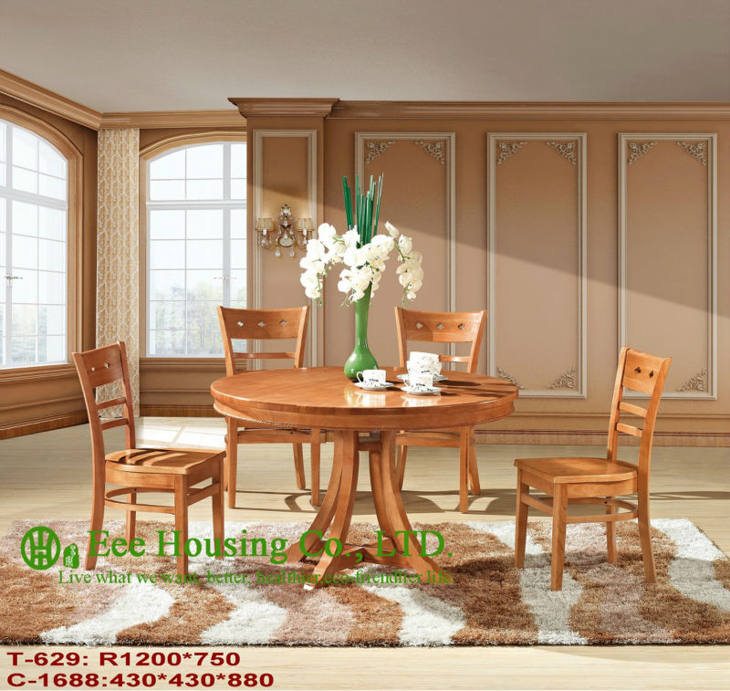T-629,C-1688     Luxurious Solid Dining Chair,Solid Wood Dinning Table Furniture With Chairs/Home Furniture