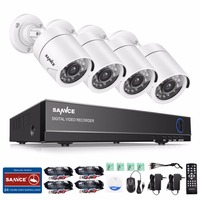 SANNCE 4CH CCTV System 4PCS 1280TVL Outdoor Weatherproof Security Camera 4CH 720P DVR Day Night DIY