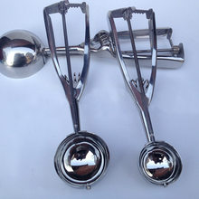 Stainless Steel Sendok Dapur Es Krim Kentang Tumbuk Semangka Jelly Yogurt Kue Spring Handle Scoop Dapur Aksesoris(China)