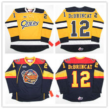 12 ALEX DeBRINCAT ERIE OTTERS Hockey Jersey Embroidery Stitched Customize  any number and name( baa3b328f