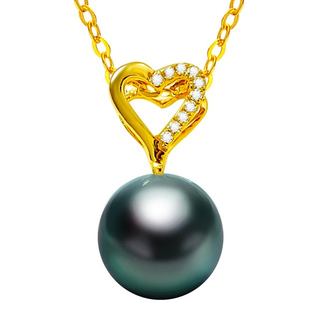 14K Gold Pendant with Saltwater Pearl 5