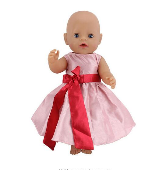 Pink High Quality DressWear for 43cm/17inch baby Doll, Children best Birthday Gift(only sell clothes)