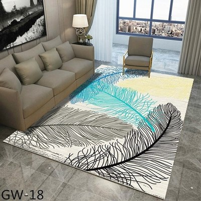 Nordic Geometric Minimalism Area Rug And Carpet For Home Living Room Bedroom Modern Large Anti Slip Floor Bedside Home Door Mat in Carpet from Home Garden