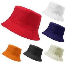 fc3320917ef5d3 candy color Bucket Hat red gray black beige white women man fisherman hat  sunscreen brim caps