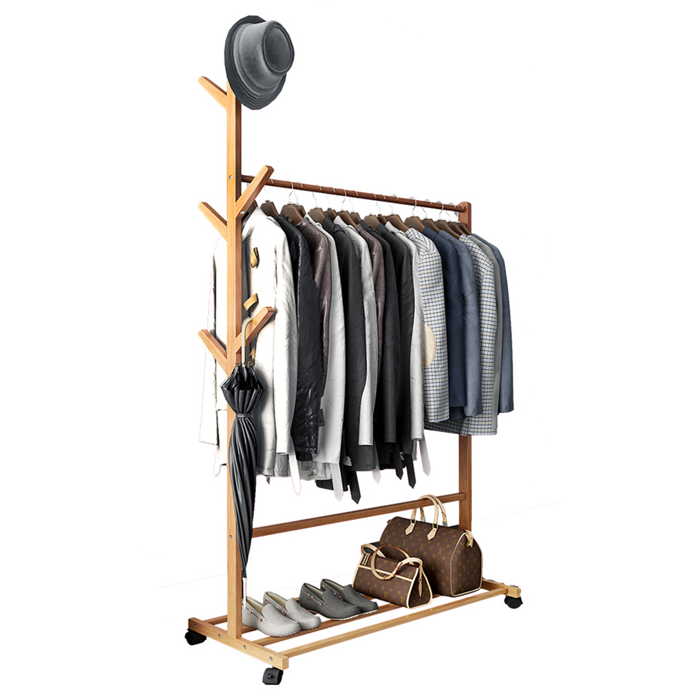Clothing Rack Hat Rack Bedroom Furniture Coat Rack Nonwovens Stainless Steel Simple Assembly Can Be Removed Bedroom Move