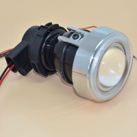 GZTOPHID Free Shipping, Original Install Fog Lamp Kit Retrofit Projector Lens with COB Angel Eye and H3 35W HID Bulbs