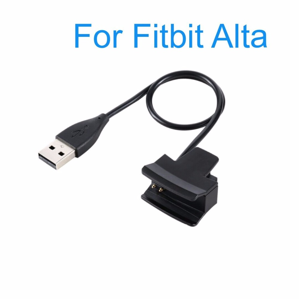 USB Charger Cables Replacement For Fitbit Alta Wireless Wristband Clamp Clip Cable Charging Cord Lines