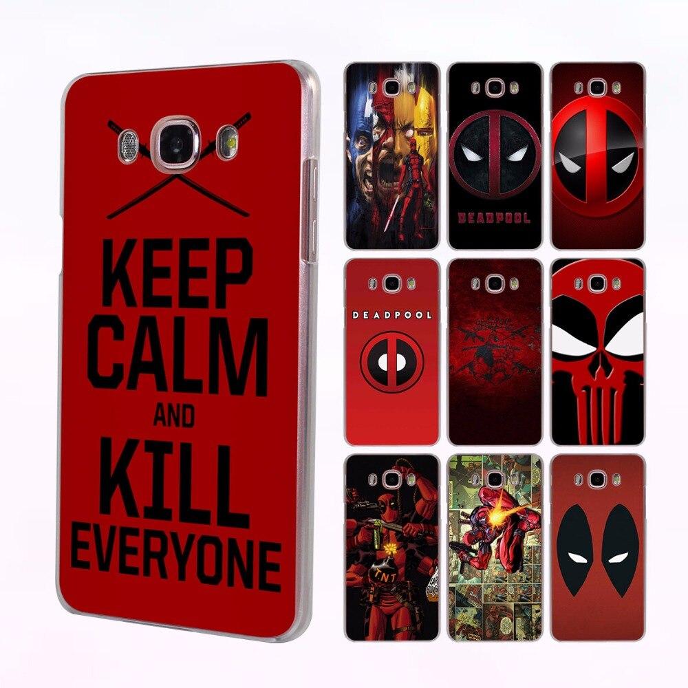 comics Avengers Deadpool series design hard transparent clear Case for Samsung Galaxy J5 J7 2017 J5 J2 Prime J3 J1 2016