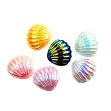 LF 20Pcs Mixed Resin Bling Scallop Decoration Crafts Flatback Cabochon Kawaii DIY Embellishments For Scrapbooking Accessories