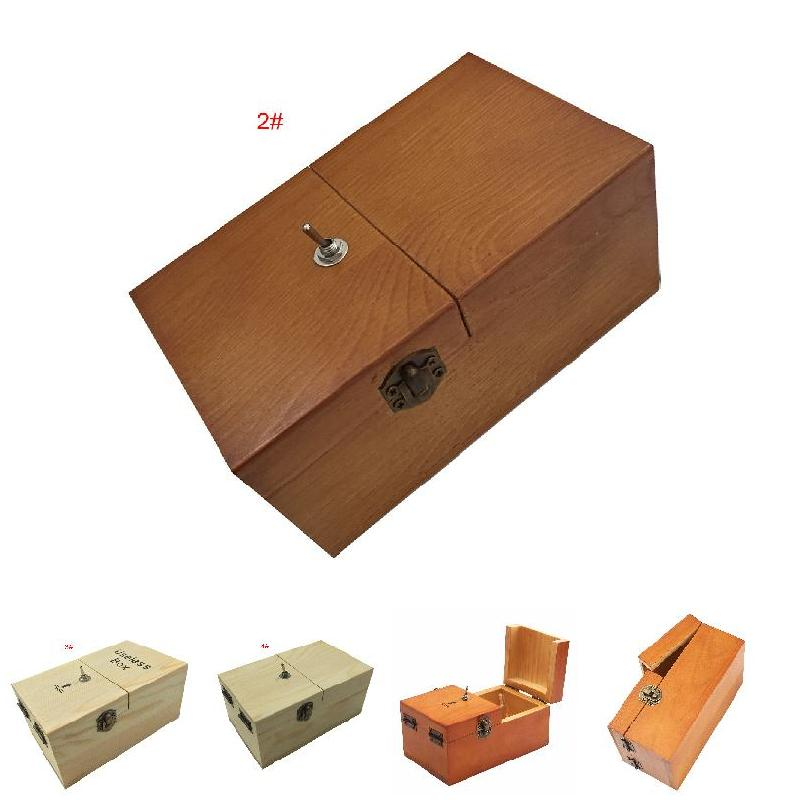 Hot Electronic Useless Box Wooden Boy Girl Kid Interesting Pastime Machine Stress Reduction Funny Toy Desk Decoration Gifts DE17