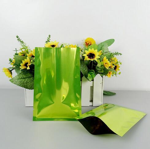 7*10 см, 200 шт. х зеленый алюминиевой фольги-алюминирования фольги пластиковый мешок те ...