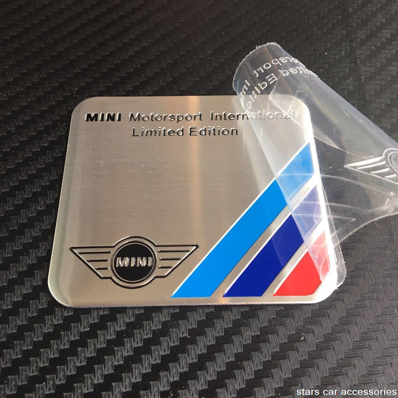300logo 100pcs Aluminum badge MINI Mortorsport International Limited Edition CAR emblem Sticker For COOPER Countryma MUGEN Power on Aliexpress.com | Alibaba ...
