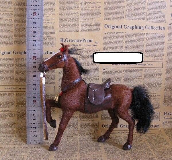 Nouveau modèle de cheval de simulation jouet selle en polyéthylène cheval brun jouet décoration cadeau environ 23x7x23 cm