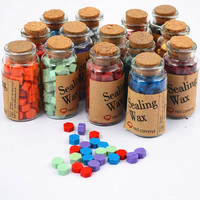 Vintage Wax Stamp Sealing Wax Bottled Granules Wax Gift Box Set Gift